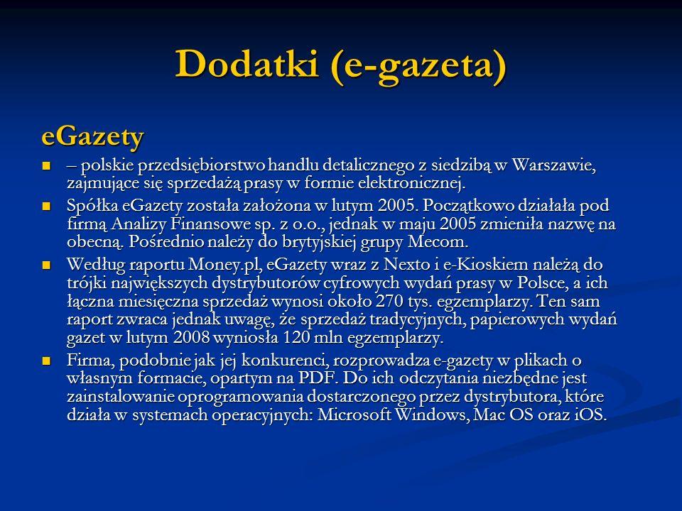 Dodatki (e-gazeta) eGazety