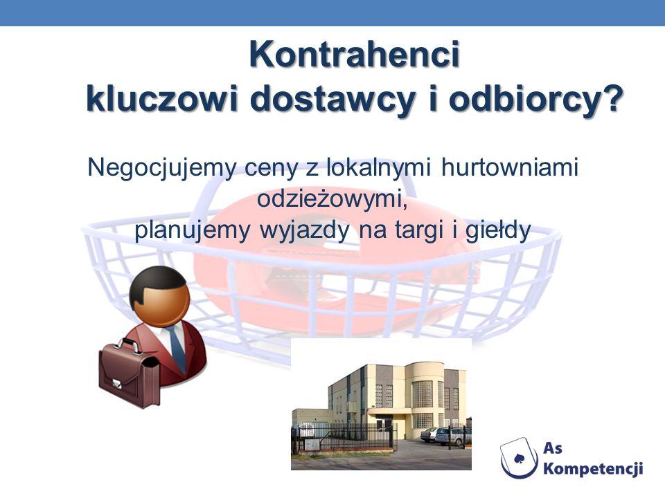 Kontrahenci kluczowi dostawcy i odbiorcy