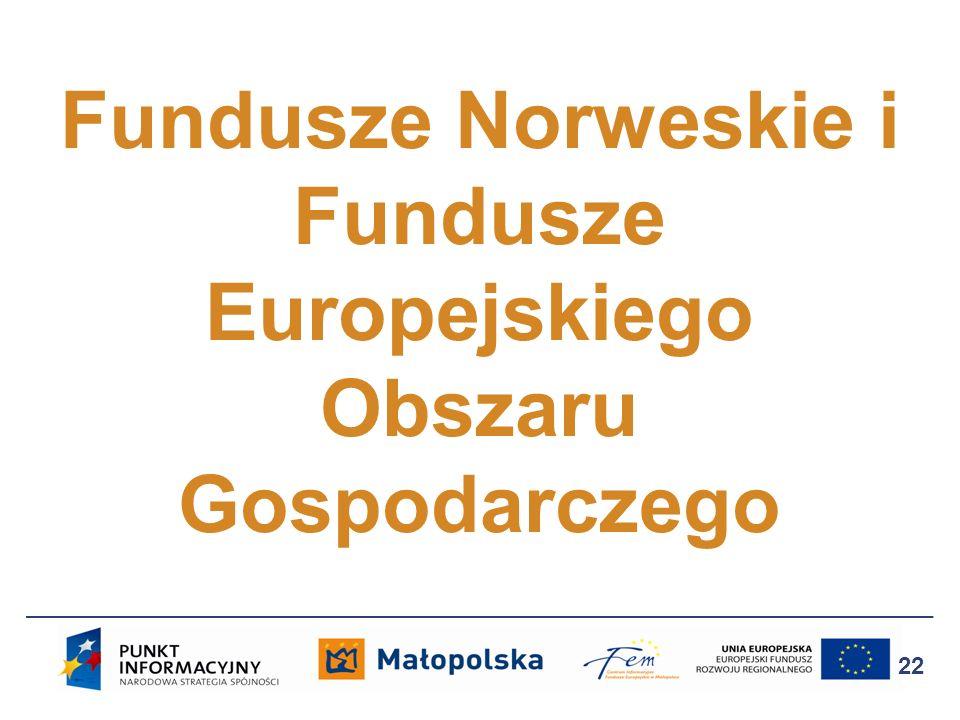 Fundusze Norweskie i Fundusze Europejskiego Obszaru Gospodarczego