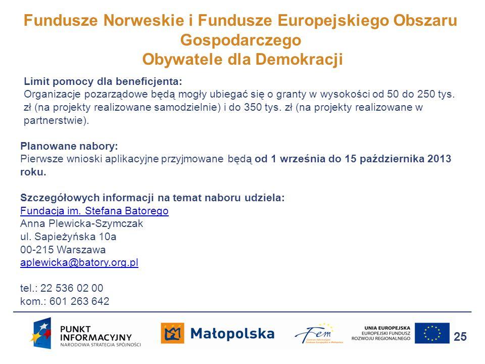 Fundusze Norweskie i Fundusze Europejskiego Obszaru Gospodarczego Obywatele dla Demokracji
