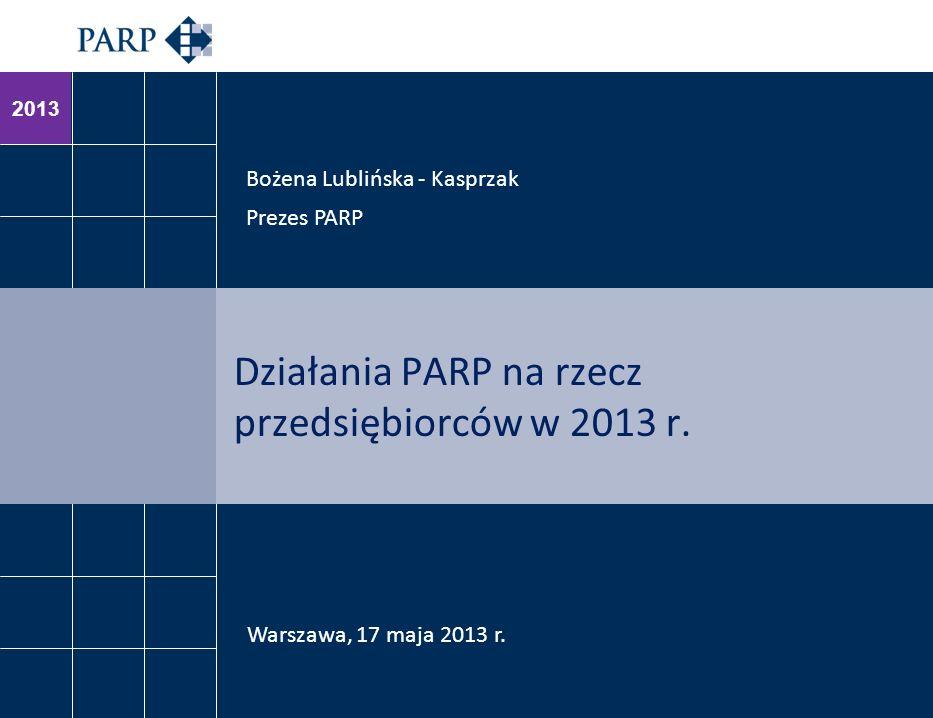 Działania PARP na rzecz przedsiębiorców w 2013 r.