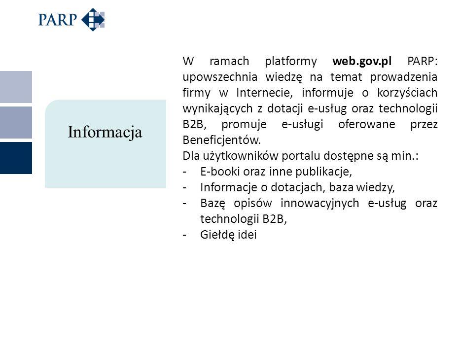 W ramach platformy web. gov