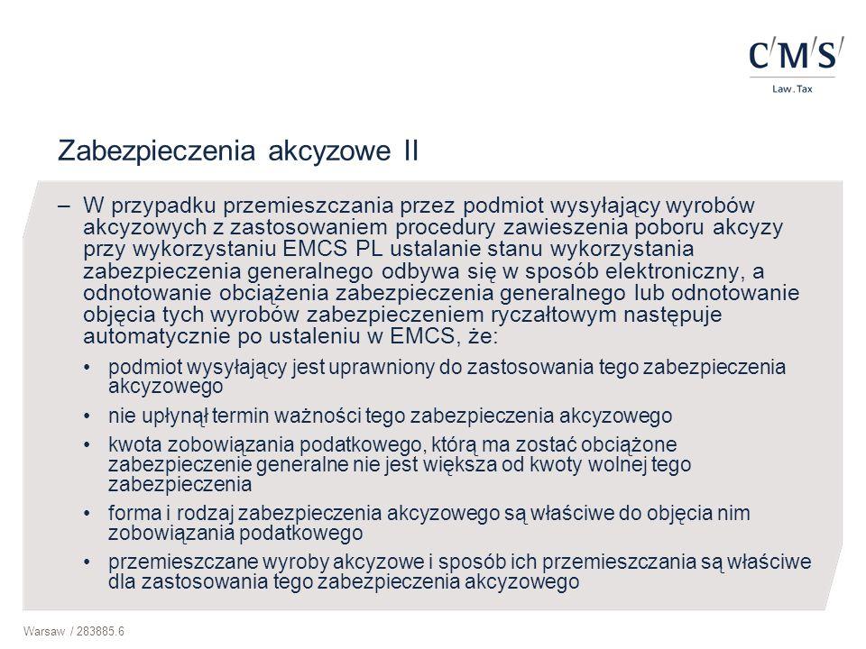Zabezpieczenia akcyzowe II