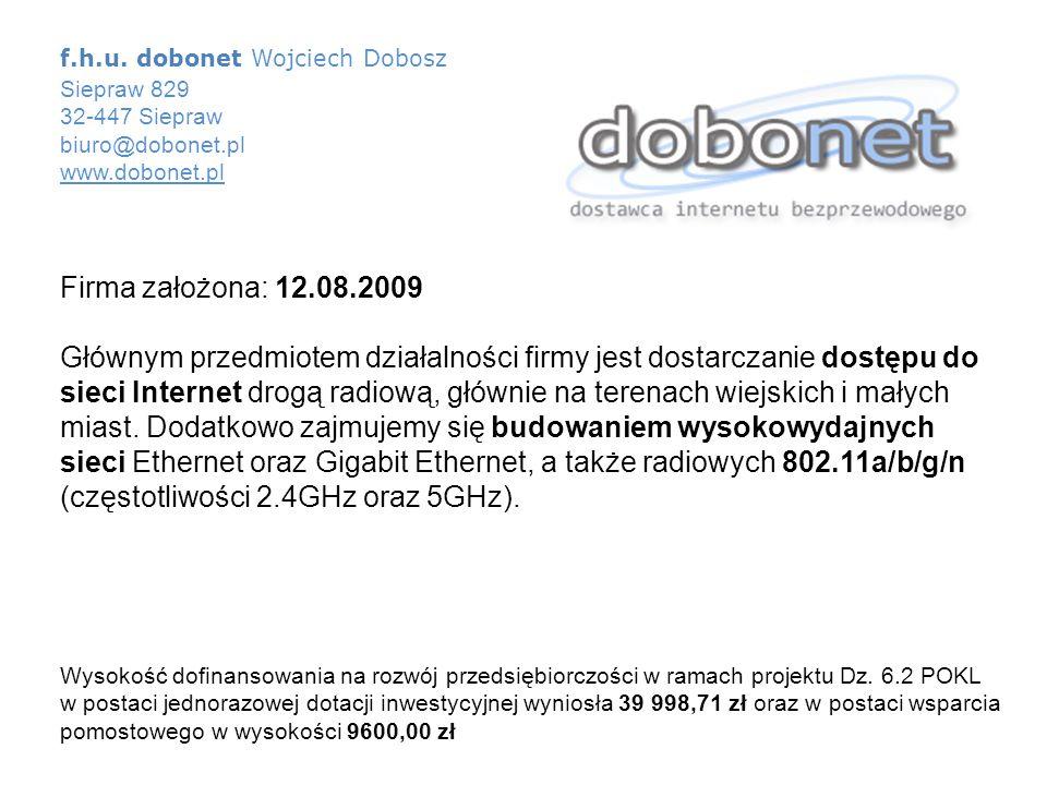 f.h.u. dobonet Wojciech Dobosz