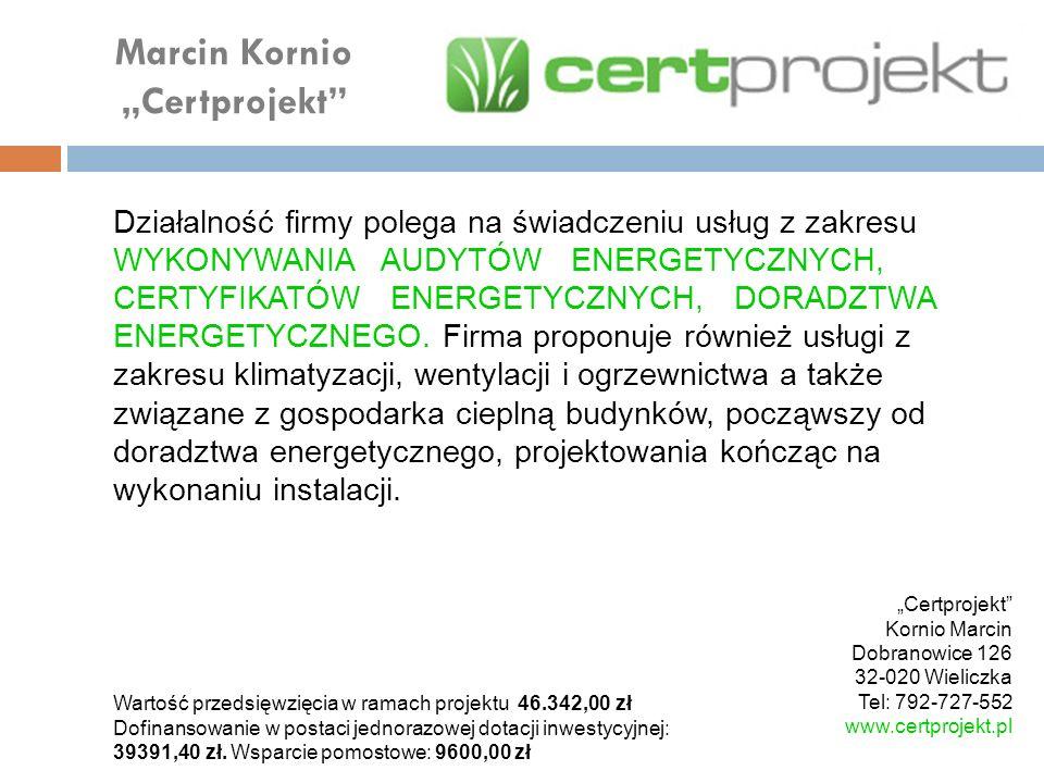 "Marcin Kornio ""Certprojekt"