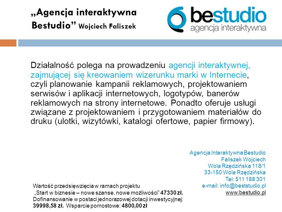 """""""Agencja interaktywna Bestudio Wojciech Faliszek"""
