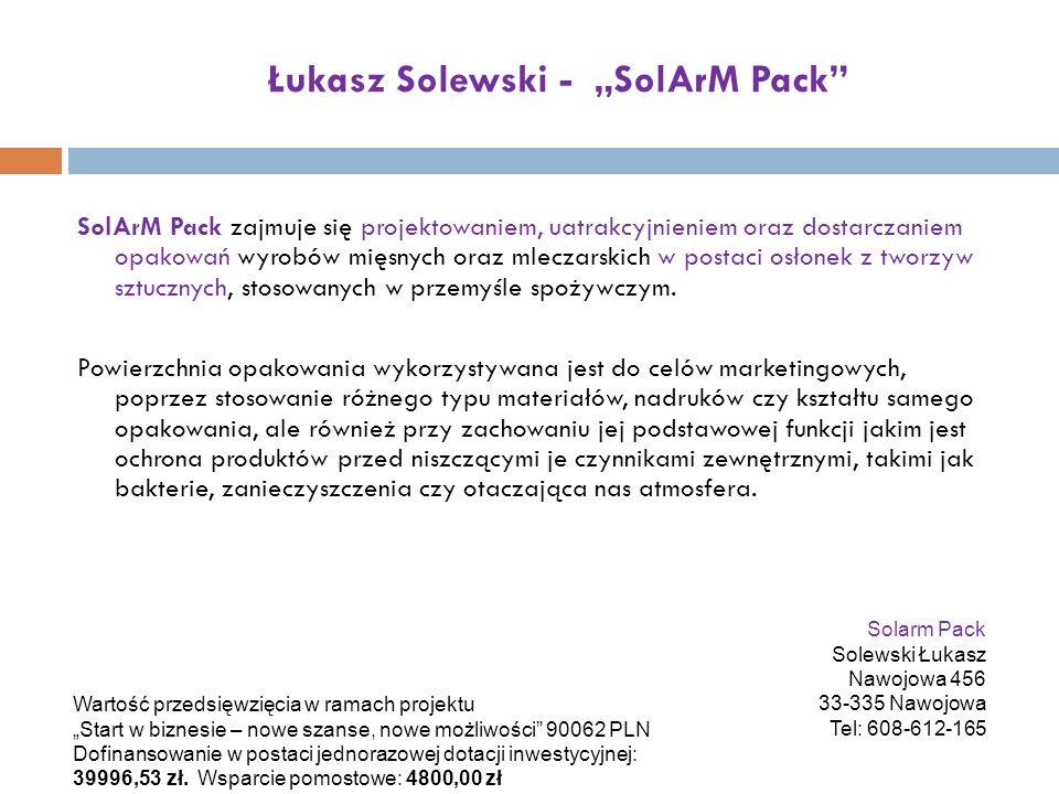"""Łukasz Solewski - """"SolArM Pack"""