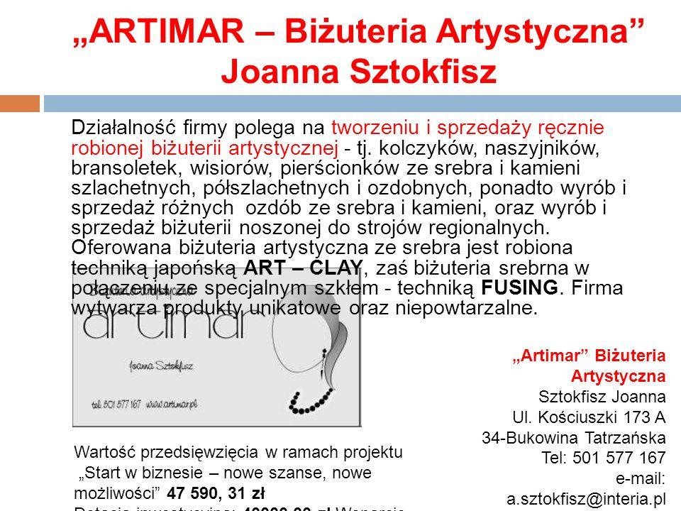 """""""ARTIMAR – Biżuteria Artystyczna Joanna Sztokfisz"""