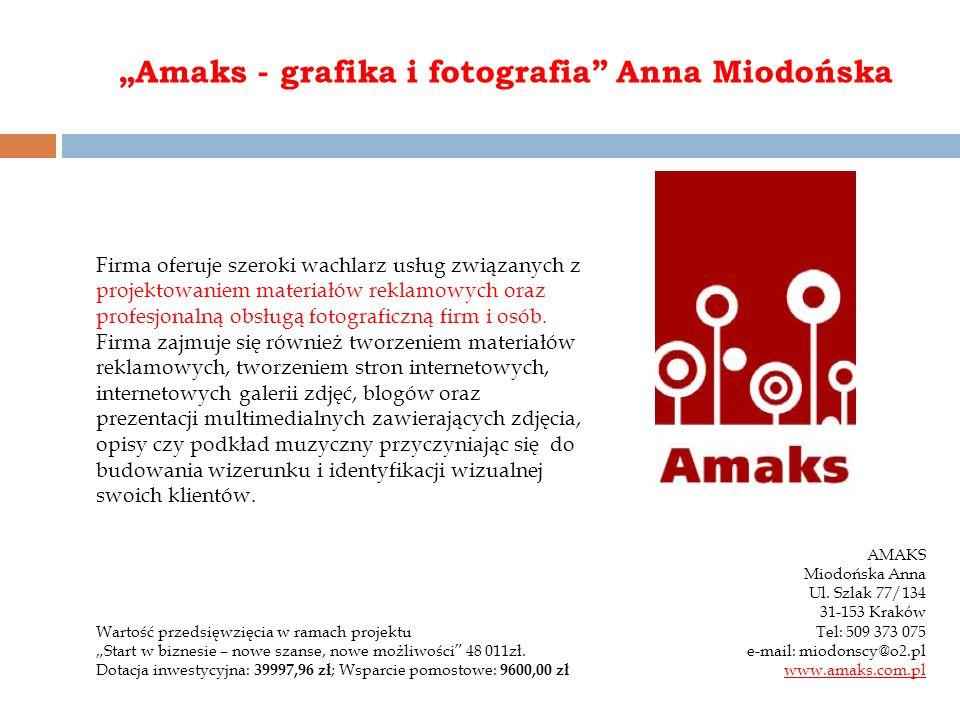 """Amaks - grafika i fotografia Anna Miodońska"