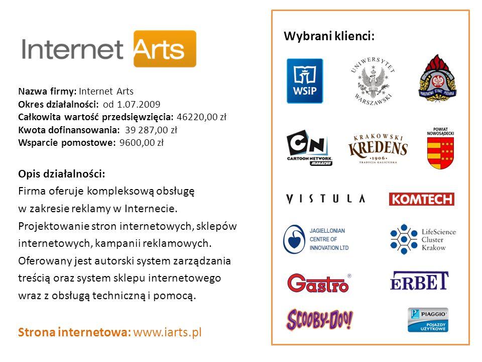 Strona internetowa: www.iarts.pl