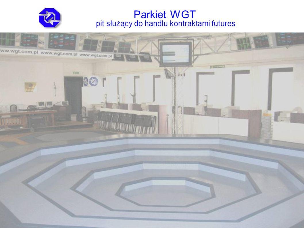 Parkiet WGT pit służący do handlu kontraktami futures