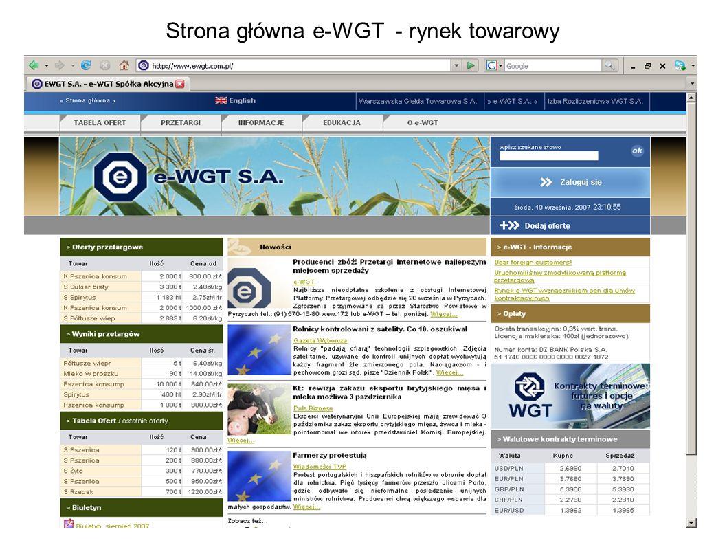 Strona główna e-WGT - rynek towarowy