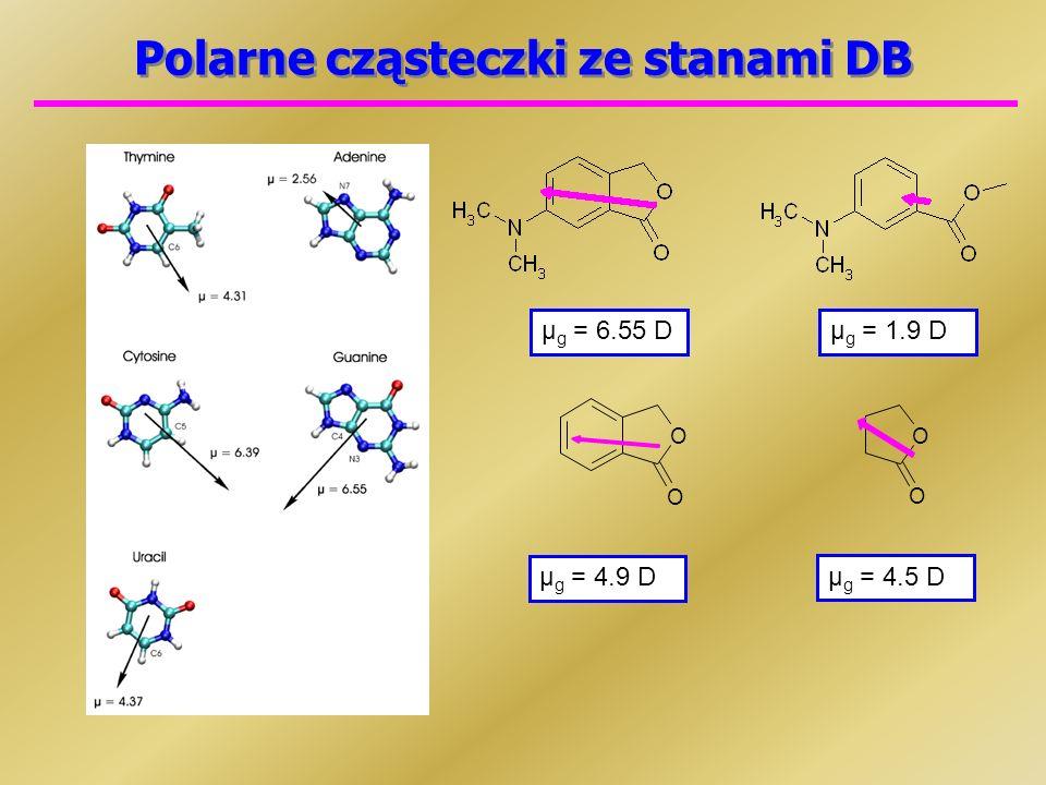 Polarne cząsteczki ze stanami DB
