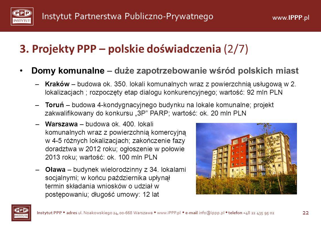 3. Projekty PPP – polskie doświadczenia (2/7)