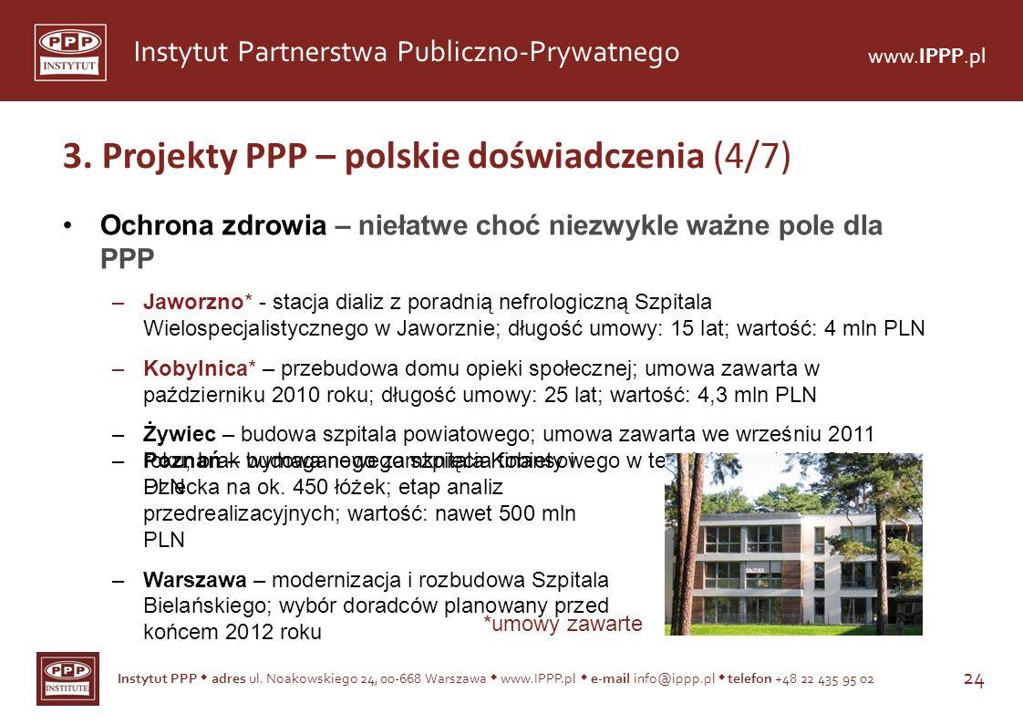 3. Projekty PPP – polskie doświadczenia (4/7)