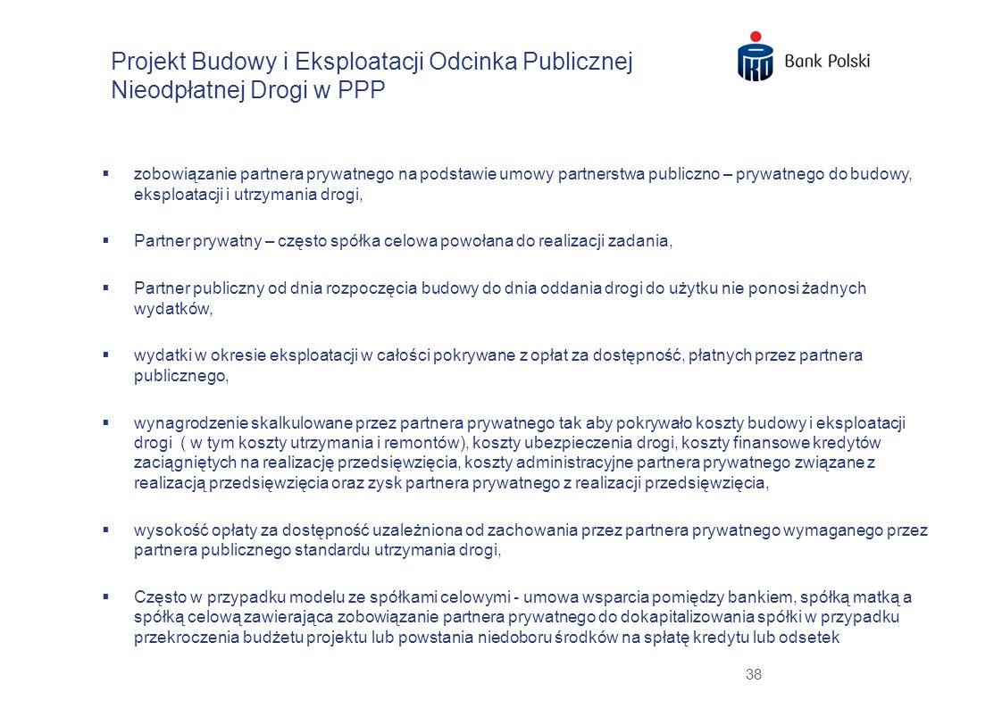 Projekt Budowy i Eksploatacji Odcinka Publicznej Nieodpłatnej Drogi w PPP