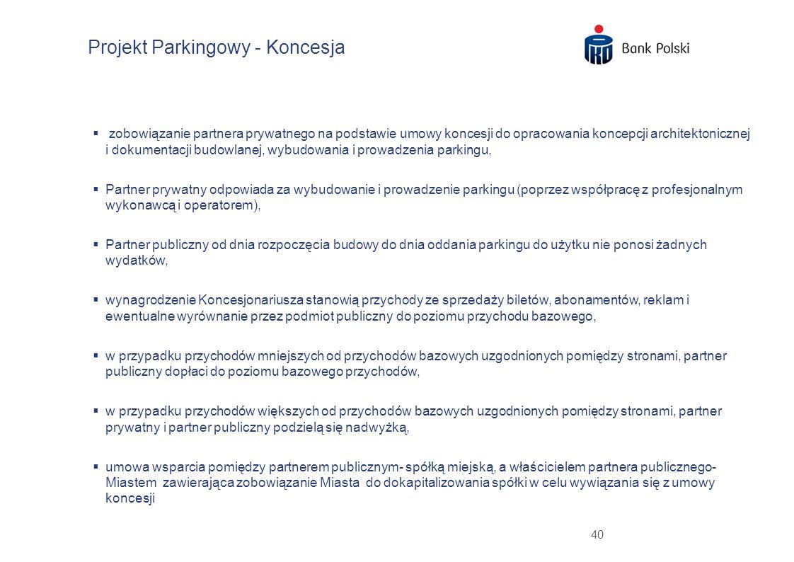Projekt Parkingowy - Koncesja