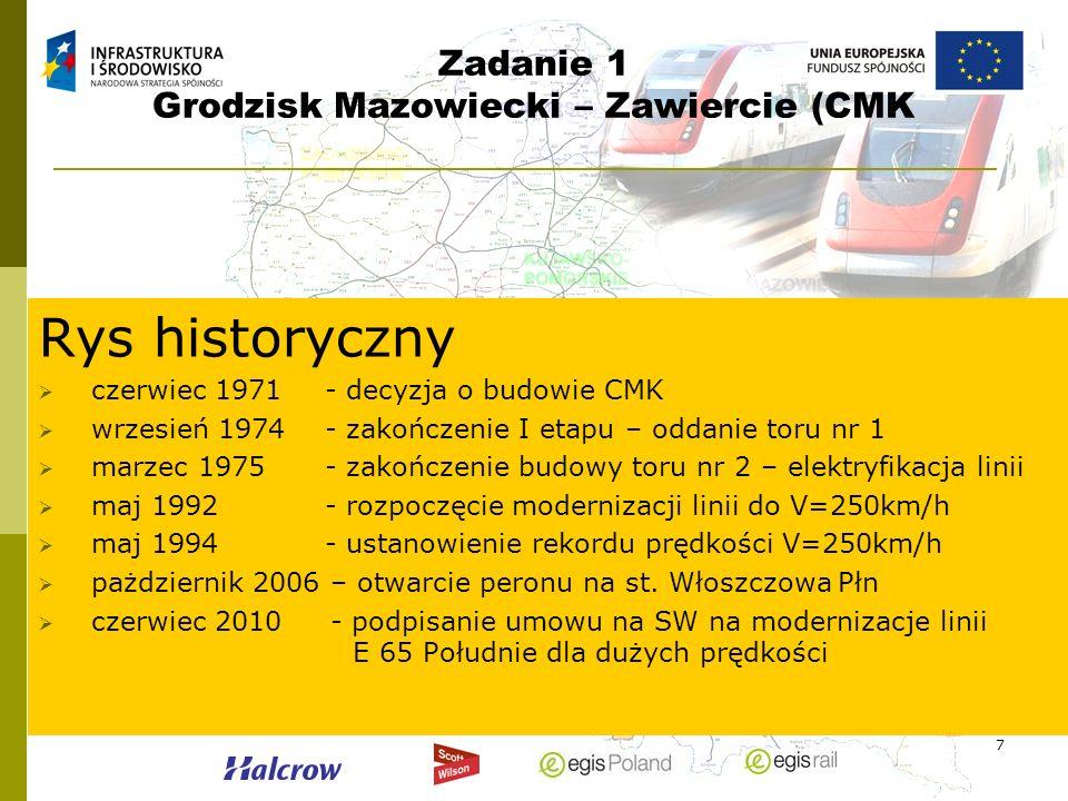 Zadanie 1 Grodzisk Mazowiecki – Zawiercie (CMK