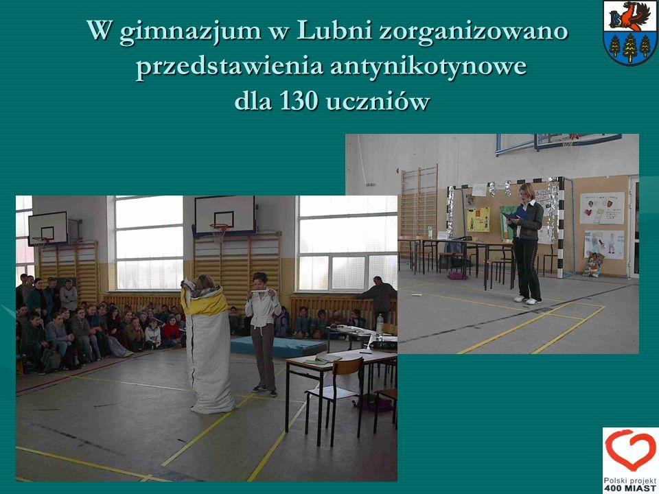 W gimnazjum w Lubni zorganizowano przedstawienia antynikotynowe dla 130 uczniów