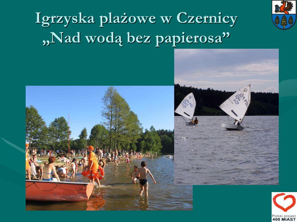 """Igrzyska plażowe w Czernicy """"Nad wodą bez papierosa"""