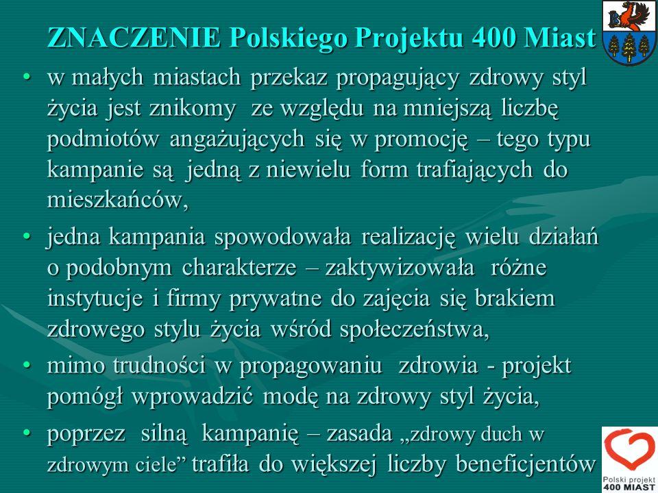 ZNACZENIE Polskiego Projektu 400 Miast