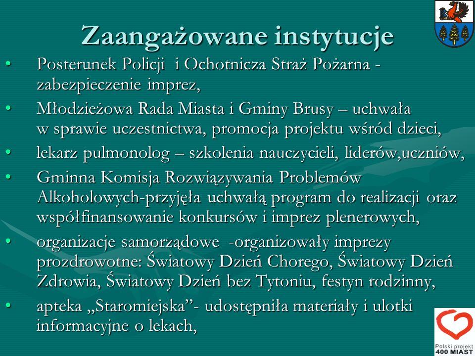 Zaangażowane instytucje