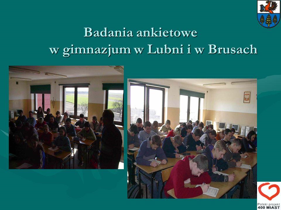 Badania ankietowe w gimnazjum w Lubni i w Brusach