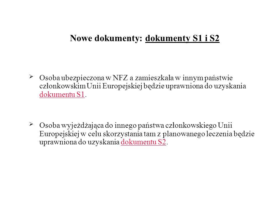 Nowe dokumenty: dokumenty S1 i S2