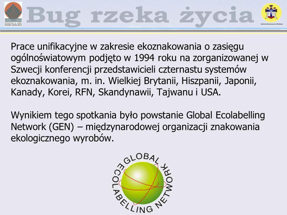 Prace unifikacyjne w zakresie ekoznakowania o zasięgu ogólnoświatowym podjęto w 1994 roku na zorganizowanej w Szwecji konferencji przedstawicieli czternastu systemów ekoznakowania, m.