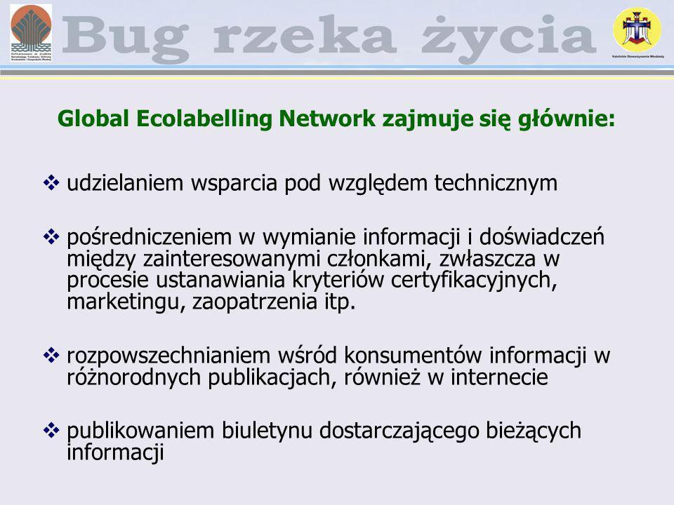 Global Ecolabelling Network zajmuje się głównie: