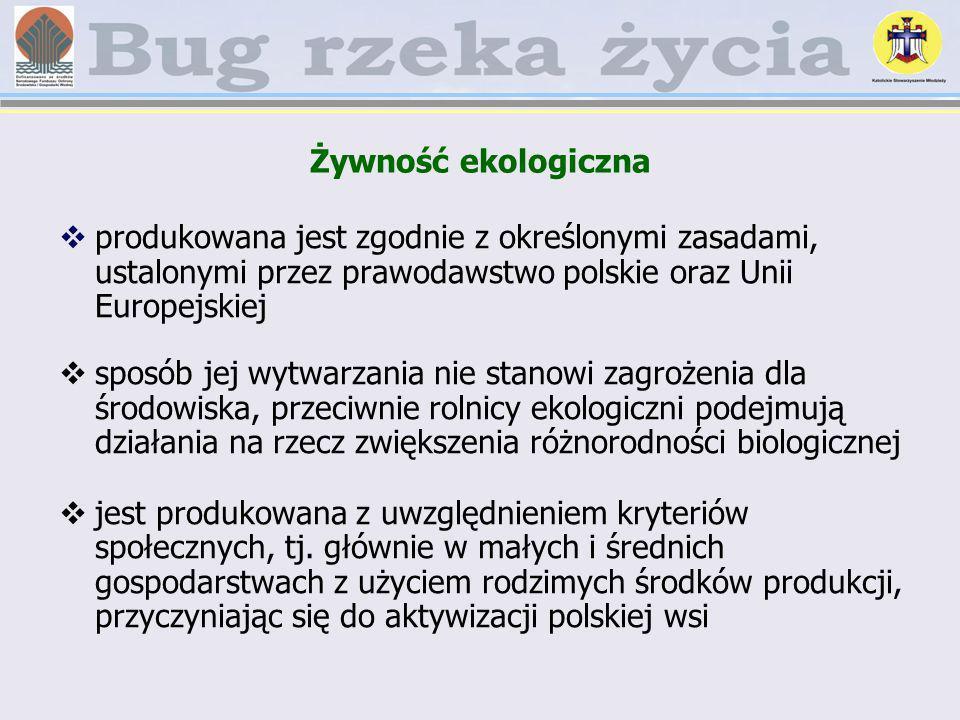 Żywność ekologiczna produkowana jest zgodnie z określonymi zasadami, ustalonymi przez prawodawstwo polskie oraz Unii Europejskiej.