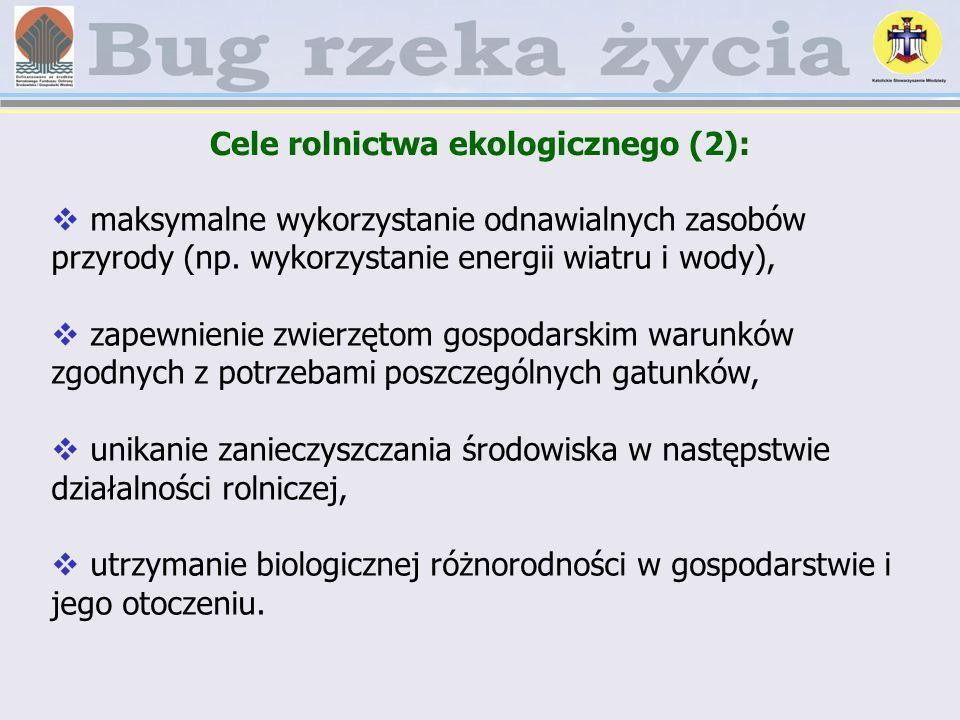 Cele rolnictwa ekologicznego (2):
