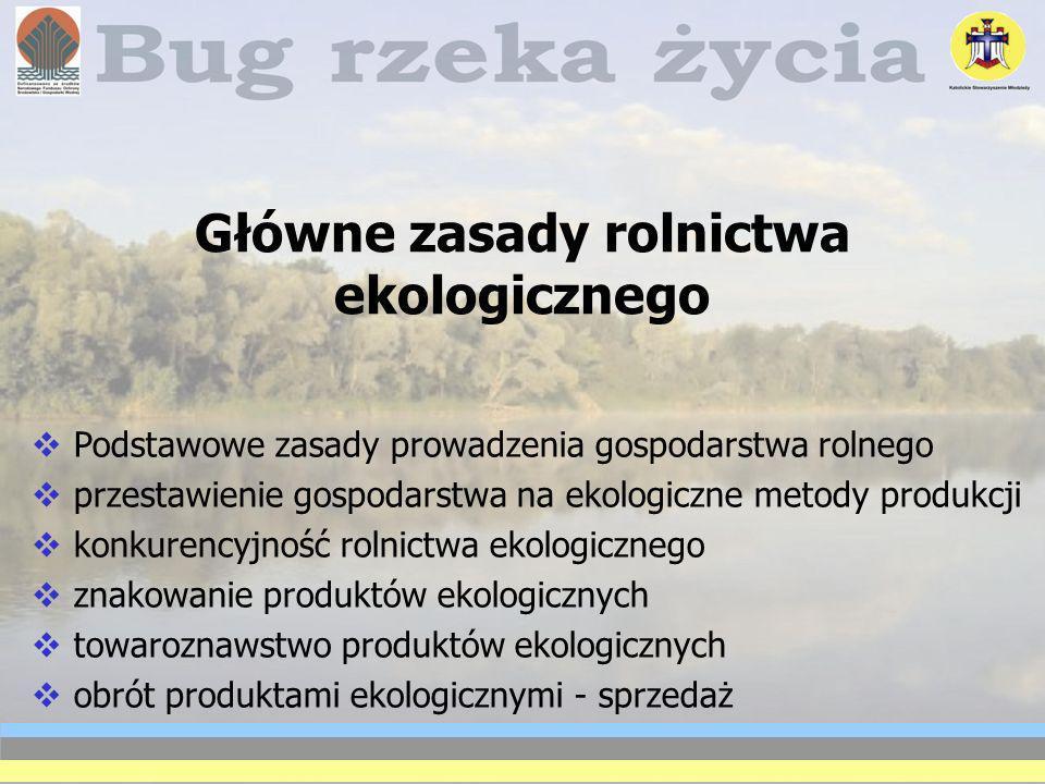 Główne zasady rolnictwa ekologicznego