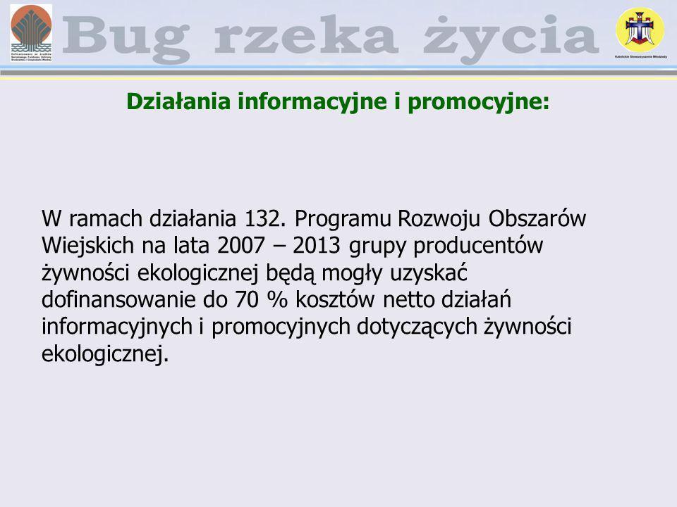Działania informacyjne i promocyjne:
