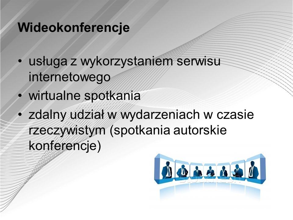 Wideokonferencje usługa z wykorzystaniem serwisu internetowego. wirtualne spotkania.