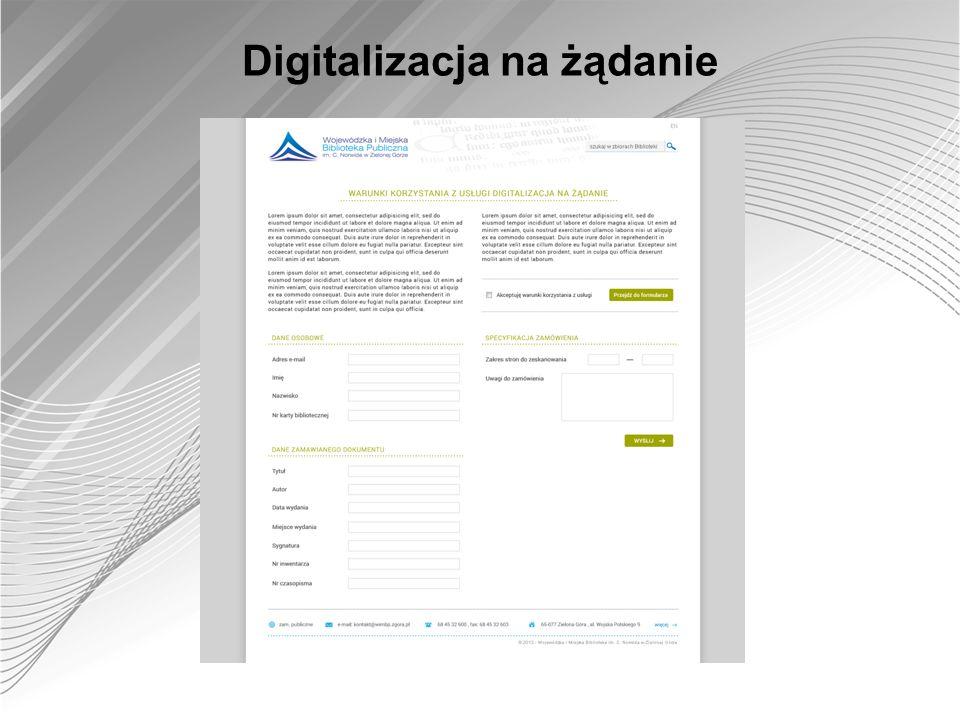 Digitalizacja na żądanie
