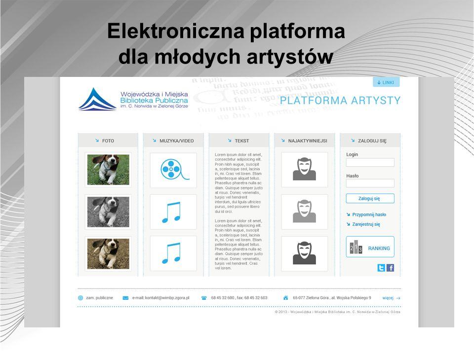 Elektroniczna platforma dla młodych artystów
