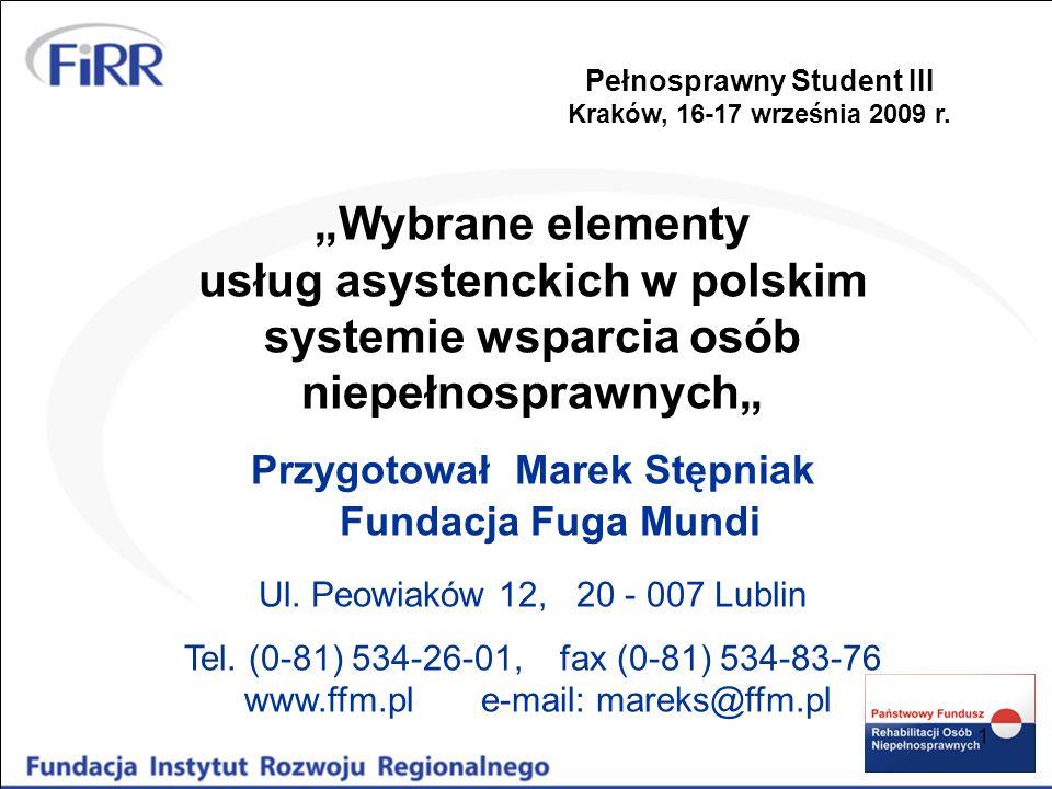 Pełnosprawny Student III Przygotował Marek Stępniak
