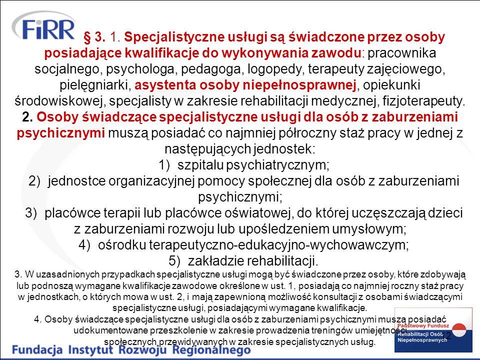 1) szpitalu psychiatrycznym;