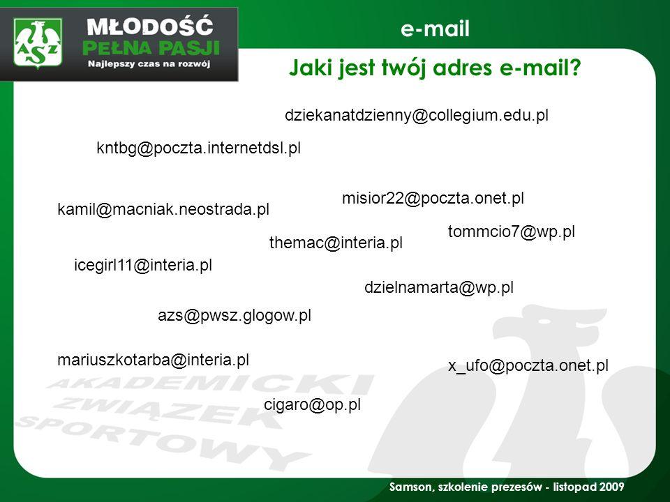 Jaki jest twój adres e-mail