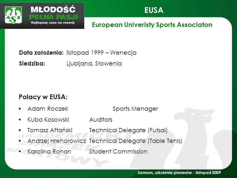 European Univeristy Sports Associaton