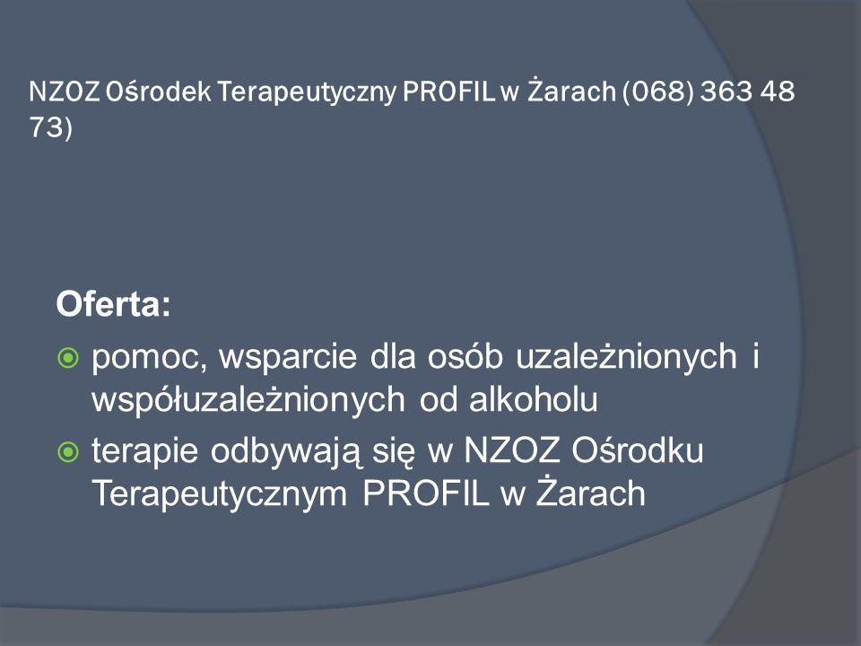 NZOZ Ośrodek Terapeutyczny PROFIL w Żarach (068) 363 48 73)