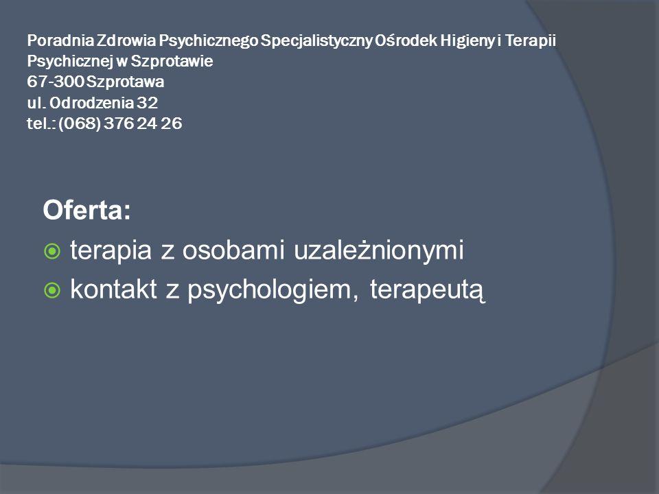terapia z osobami uzależnionymi kontakt z psychologiem, terapeutą