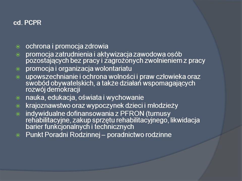 cd. PCPR ochrona i promocja zdrowia