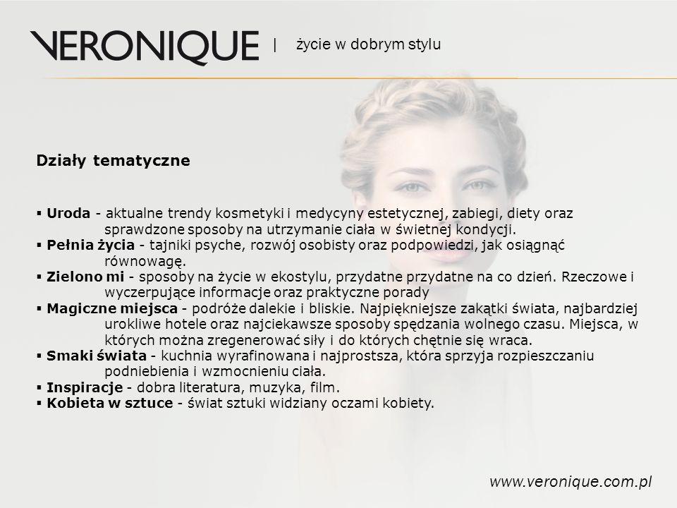 | życie w dobrym stylu www.veronique.com.pl Działy tematyczne