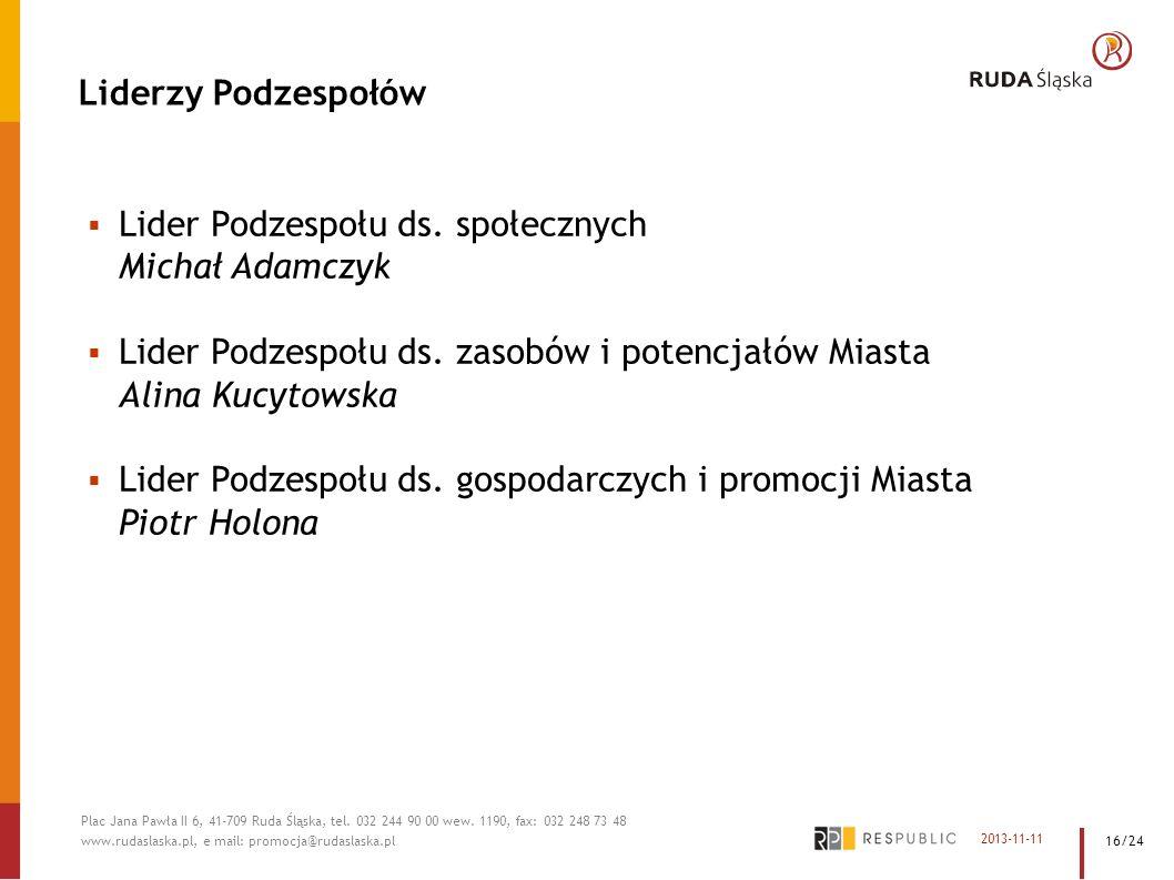 Lider Podzespołu ds. społecznych Michał Adamczyk