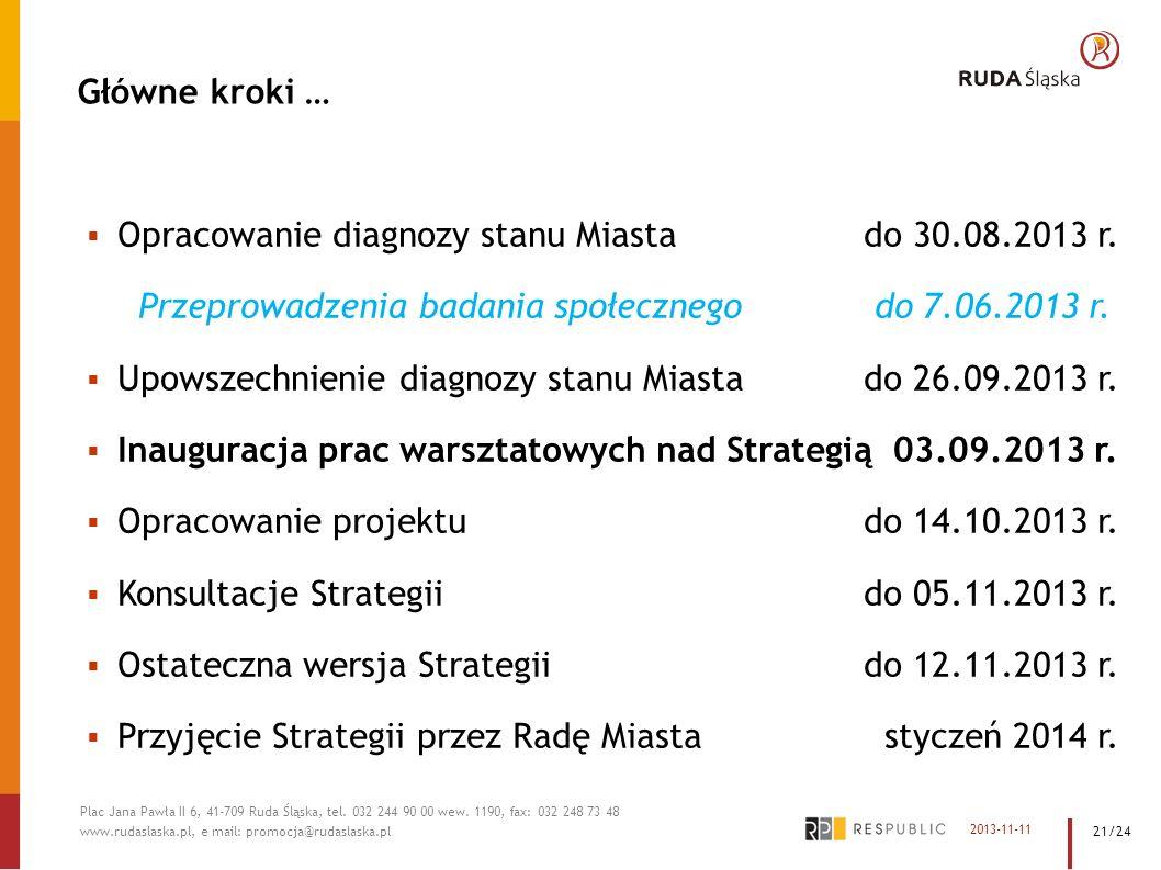 Opracowanie diagnozy stanu Miasta do 30.08.2013 r.