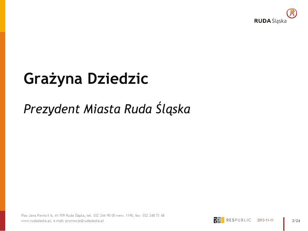 Grażyna Dziedzic Prezydent Miasta Ruda Śląska 3/24