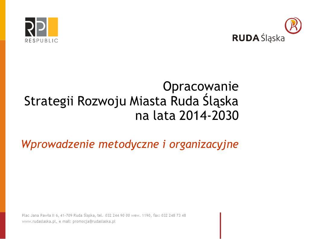 Opracowanie Strategii Rozwoju Miasta Ruda Śląska na lata 2014-2030 Wprowadzenie metodyczne i organizacyjne