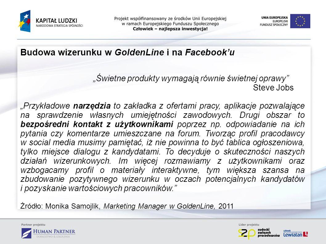 Budowa wizerunku w GoldenLine i na Facebook'u